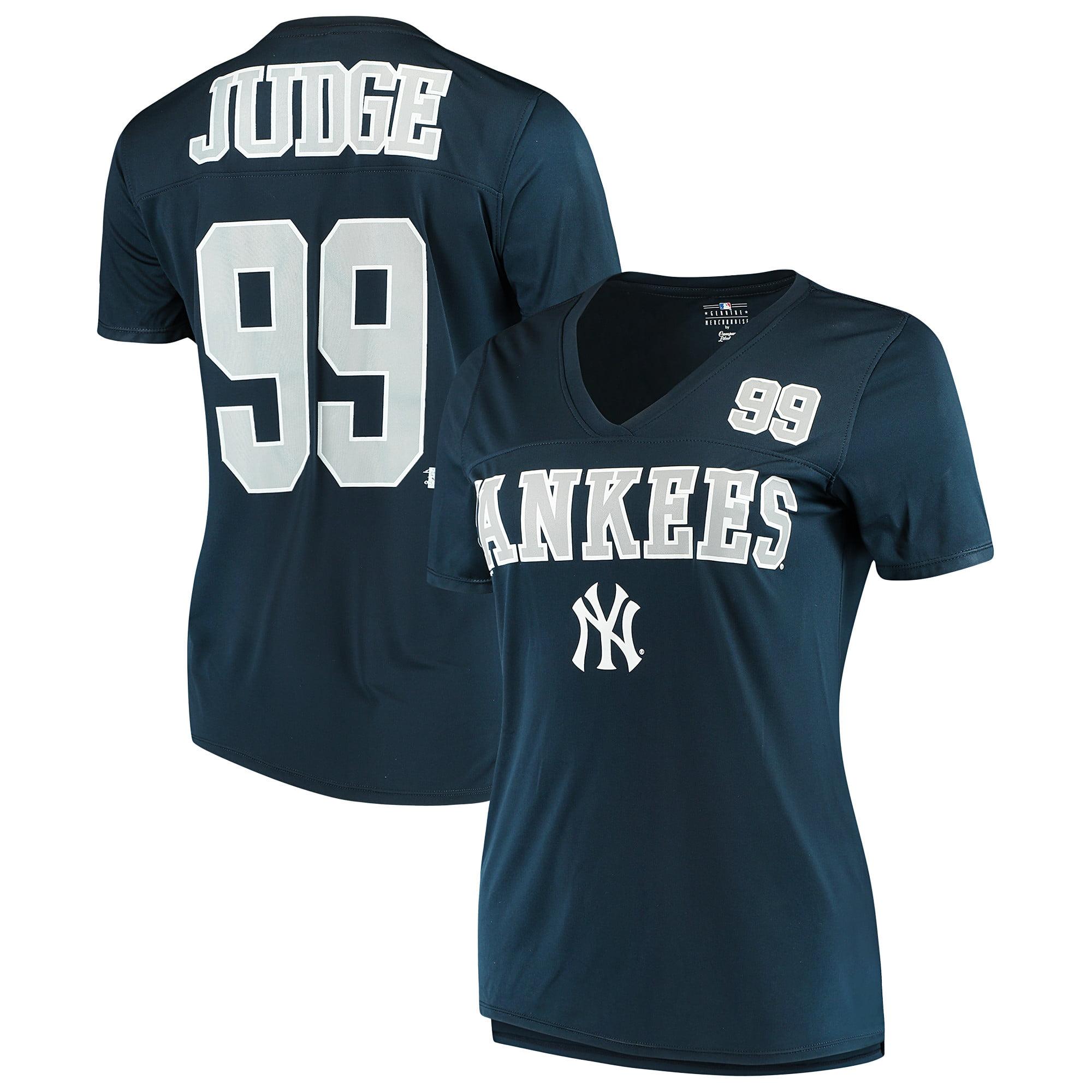 Women's New Era Aaron Judge Navy New York Yankees Name & Number T-Shirt