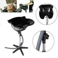 UBesGoo Pro Portable Shampoo Basin Height Adjustable Salon Hair Treatment Bowl Black New