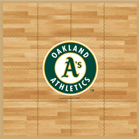 MLB Oakland Athletics Portable Foam Puzzle Tailgate Floor Mat by