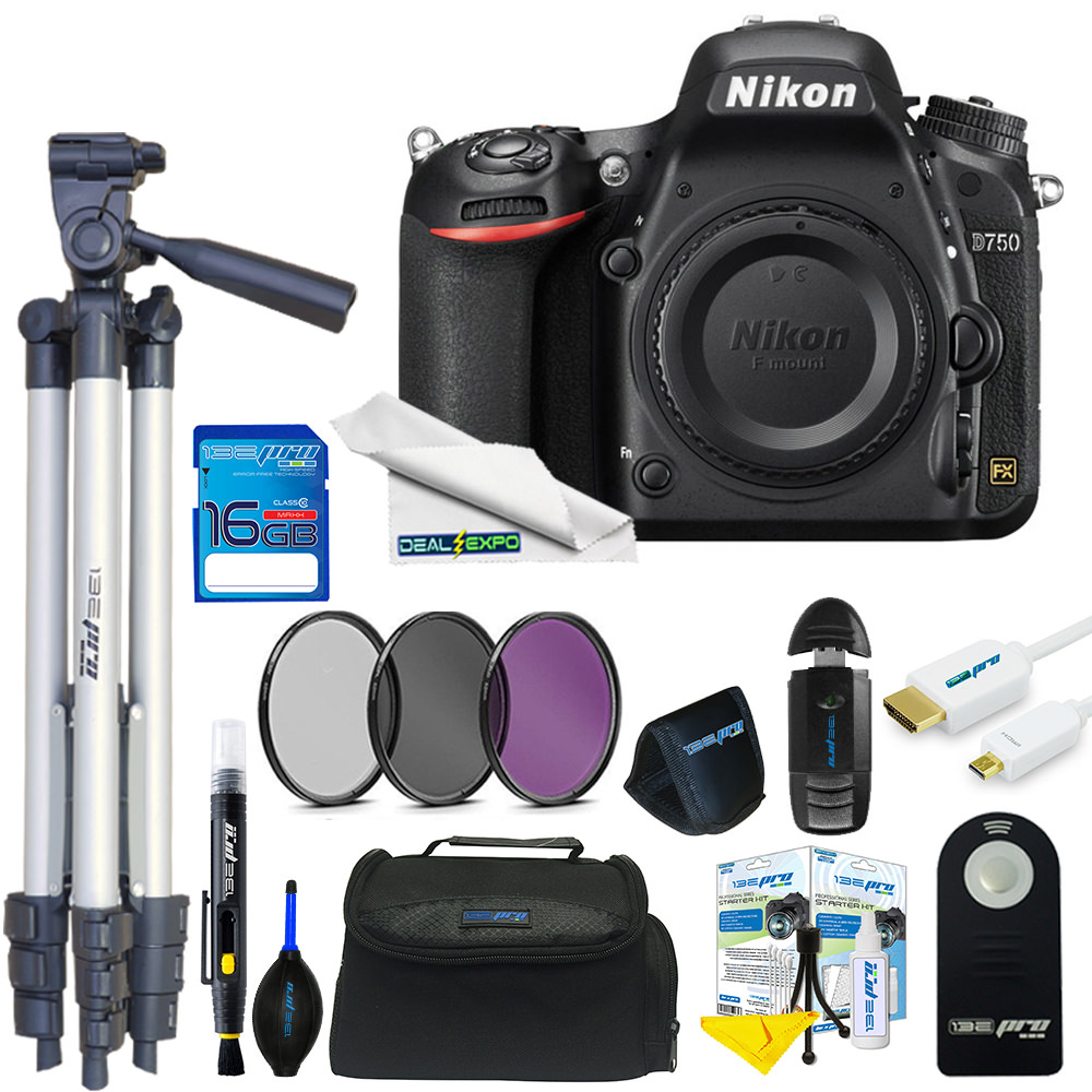 Nikon D750 DSLR Camera (Body) + Expo Basic Kit