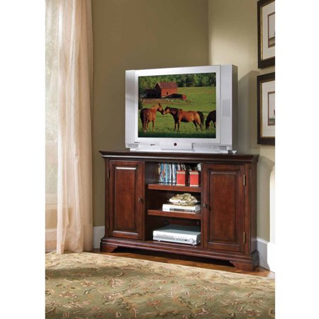Home Styles Naples White Corner TV Stand for TVs up to 46″