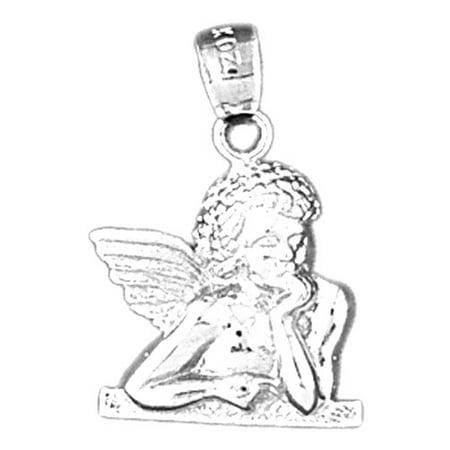 14k white gold angel pendant 24 mm walmart 14k white gold angel pendant 24 mm aloadofball Image collections