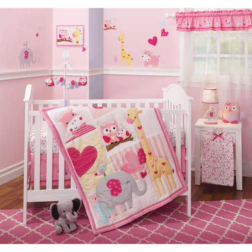 Bedtime Originals Bubblegum Jungle 3-Piece Bedding Set