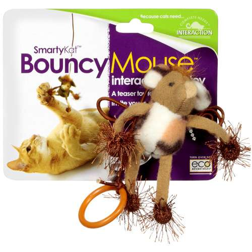 SmartyKat BouncyMouse Interactive Toy, 1ct