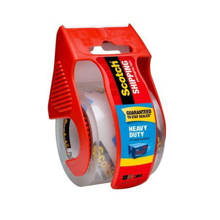 "3M Scotch 1.88""x22.2 Yd. Heavy Duty Shipping Packaging Tape with Dispenser"