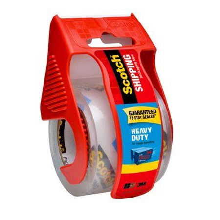 Scotch Heavy Duty Shipping Packaging Tape, 1.88 in x 22.2 yd, 1/Pack with Dispenser