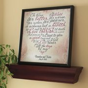 personalized wedding vows heart canvas