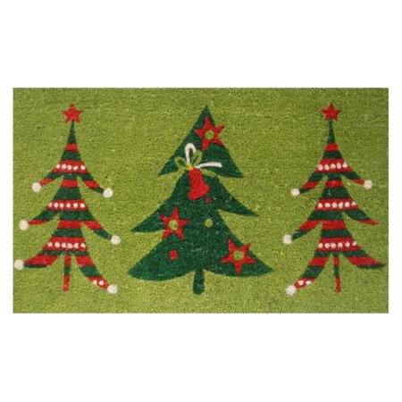 Home and More Christmas Tree Trio Welcome Door Mat ()