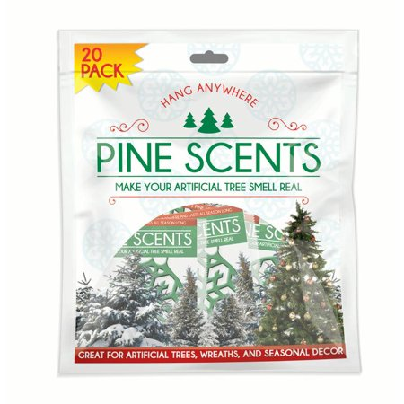 Pine Scents (20-Pack) Scented Ornaments for Artificial Trees and Holiday (Artificial Bonsai Ornament)