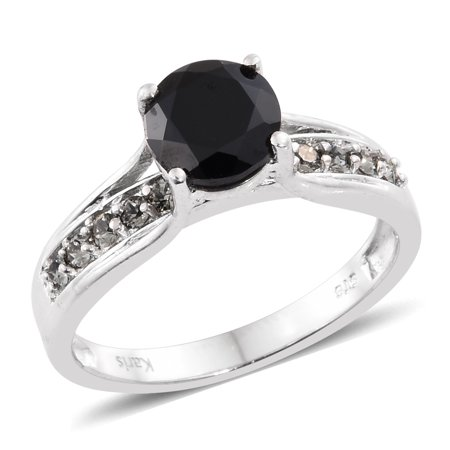 f6472c82654 Shop LC - 2.2 Cttw Round Black Spinel, Made with SWAROVSKI Crystal ...