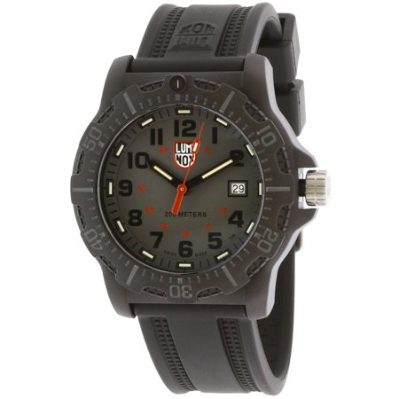 Luminox Men's Black Ops XL.8882 Silicone Swiss Quartz Diving Watch