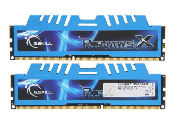 G.SKILL F3-14900CL8D-8GBXM Ripjaws X 8GB (2x4GB) DDR3-1866MHz Memory RAM