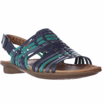 b408793c4e2b Naturalizer - Womens naturalizer Westerly Woven Flat Slingback Sandals - Blue  Multi - Walmart.com