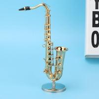 Tebru Saxophone Model,Desktop Decoration Bass Musical Instrument Model Collection Saxophone Ornaments Sax Craft,Musical Instrument Model