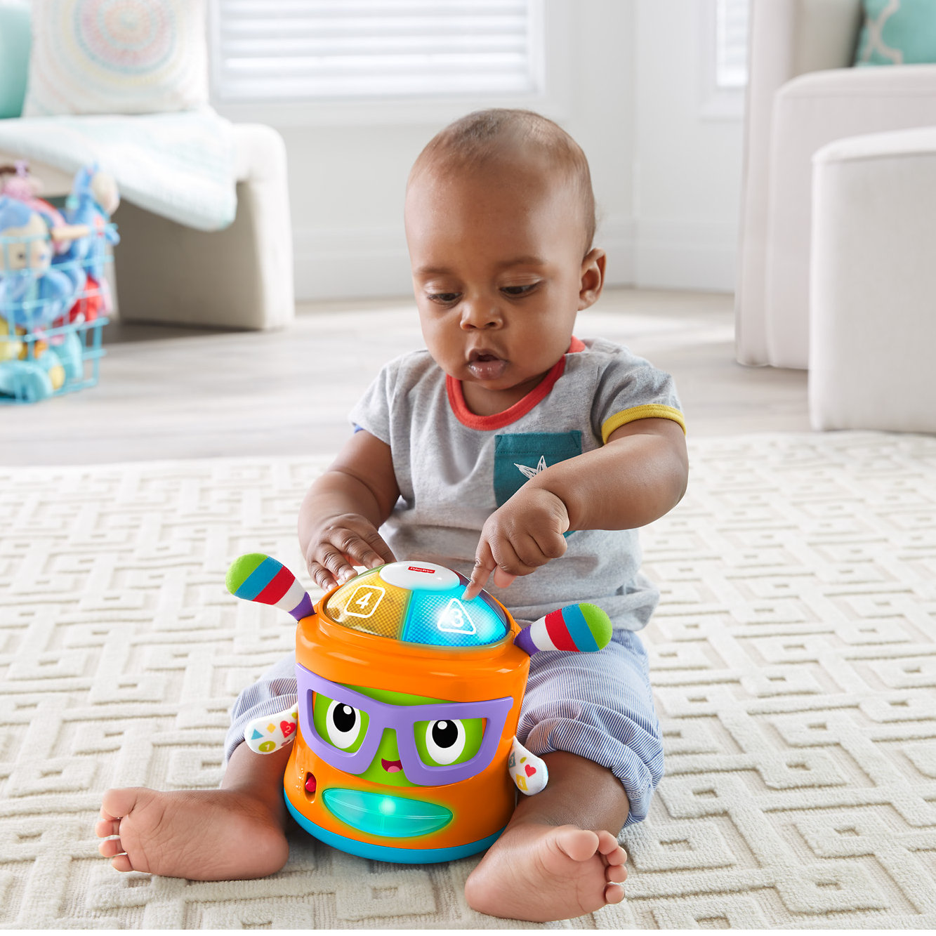 Fisher Price Franky Beats Bat & Boogie Interactive Toy with Music & Sound by Fisher-Price