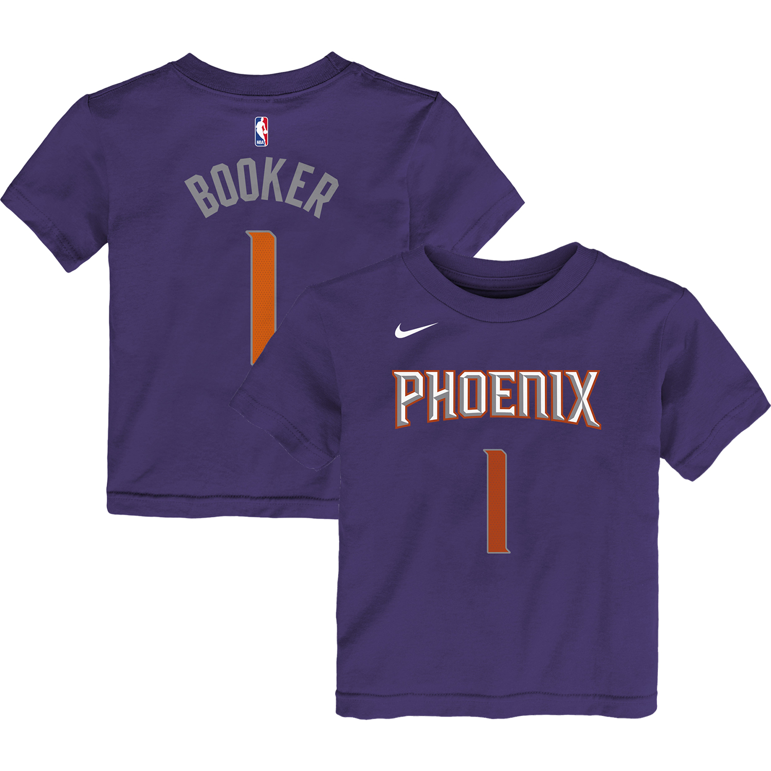 Devin Booker Phoenix Suns Nike Toddler Name & Number T-Shirt - Purple