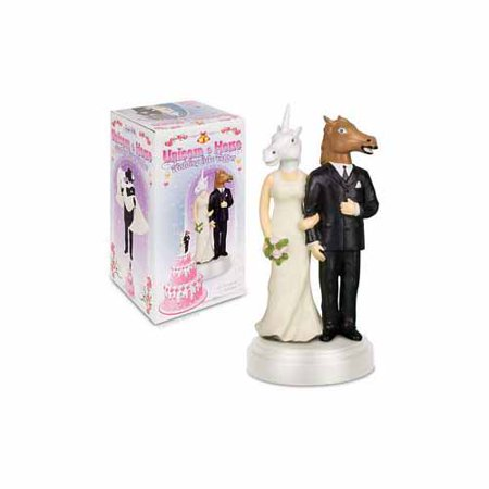 Unicorn and Horse Wedding Cake Topper by Accoutrements - 12424 - Horse Racing Cake Designs