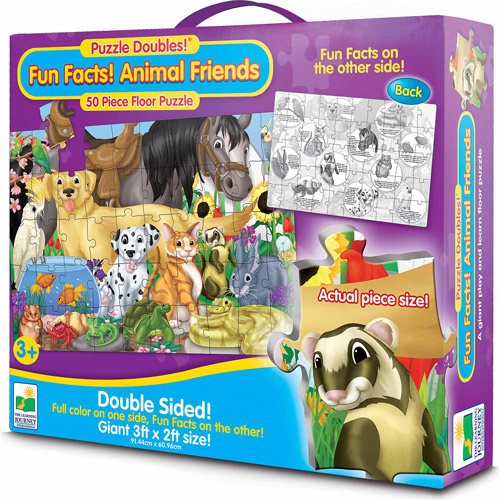 The Learning Journey Puzzle Doubles, Fun Facts! Animals Friends