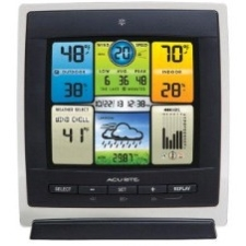 AcuRite Pro Color Weather Station with Wind Speed 330 ft Desktop, Wall Mountable by Chaney Instruments