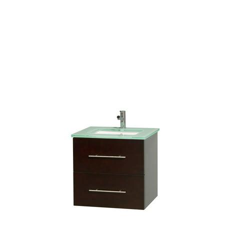 Wyndham Collection Centra 24 inch Single Bathroom Vanity in Espresso G
