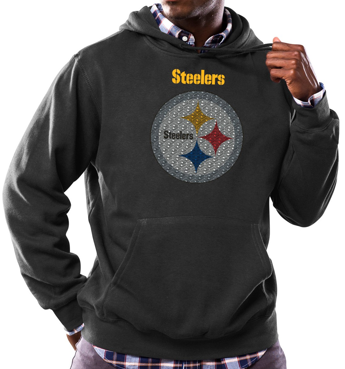 Pittsburgh Steelers Majestic NFL Critical Victory Hooded Sweatshirt - Black