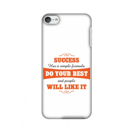 iPod Touch 6th Gen Case - Success Do Your Best, Hard Plastic Back Cover, Slim Profile Cute Printed Designer Snap on Case with Screen Cleaning