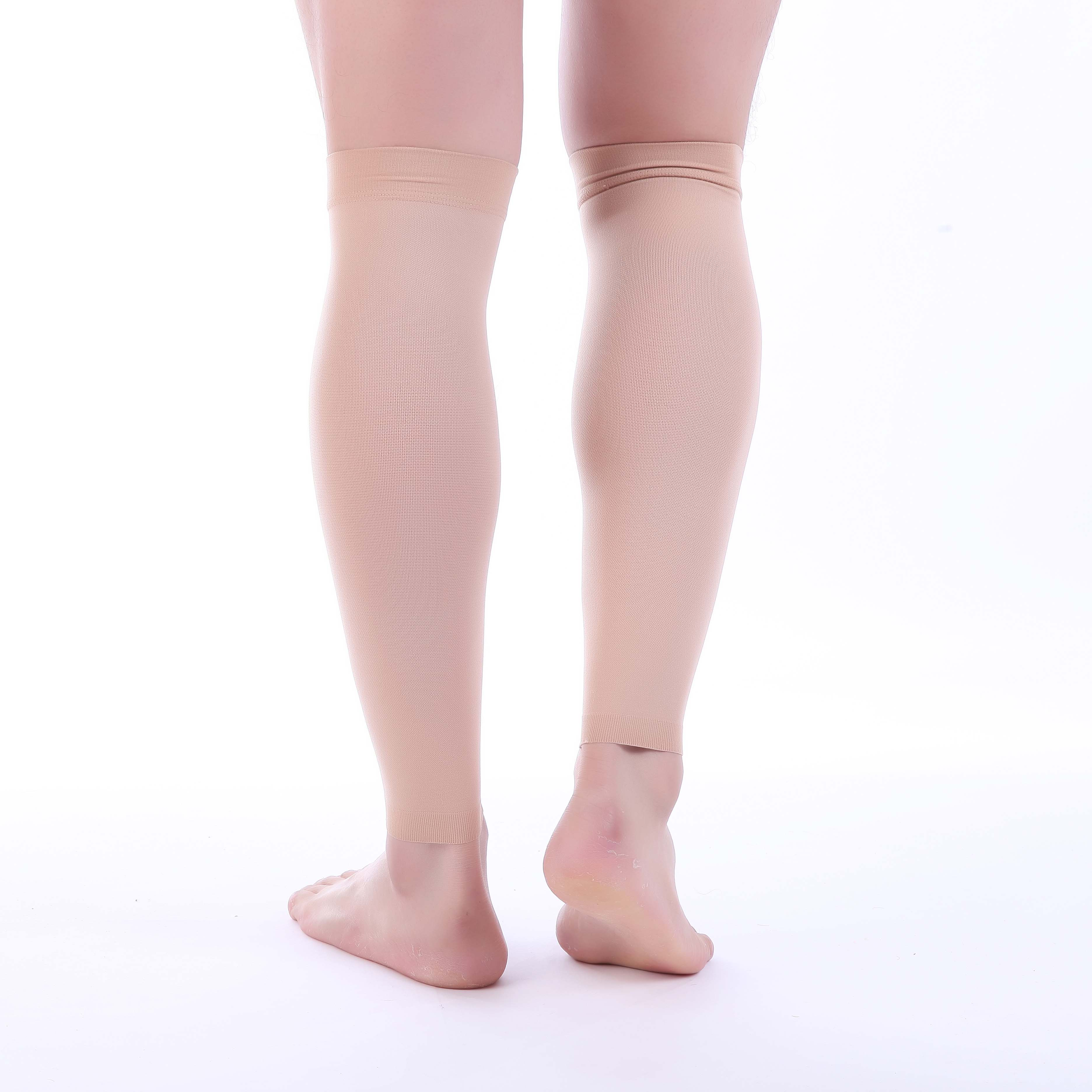 1 Pair 30-40 mmHg Support Venous Insufficiency Surgery Recovery Shin Splints Varicose Veins Jet Black, Medium Doc Miller Calf Compression Sleeve