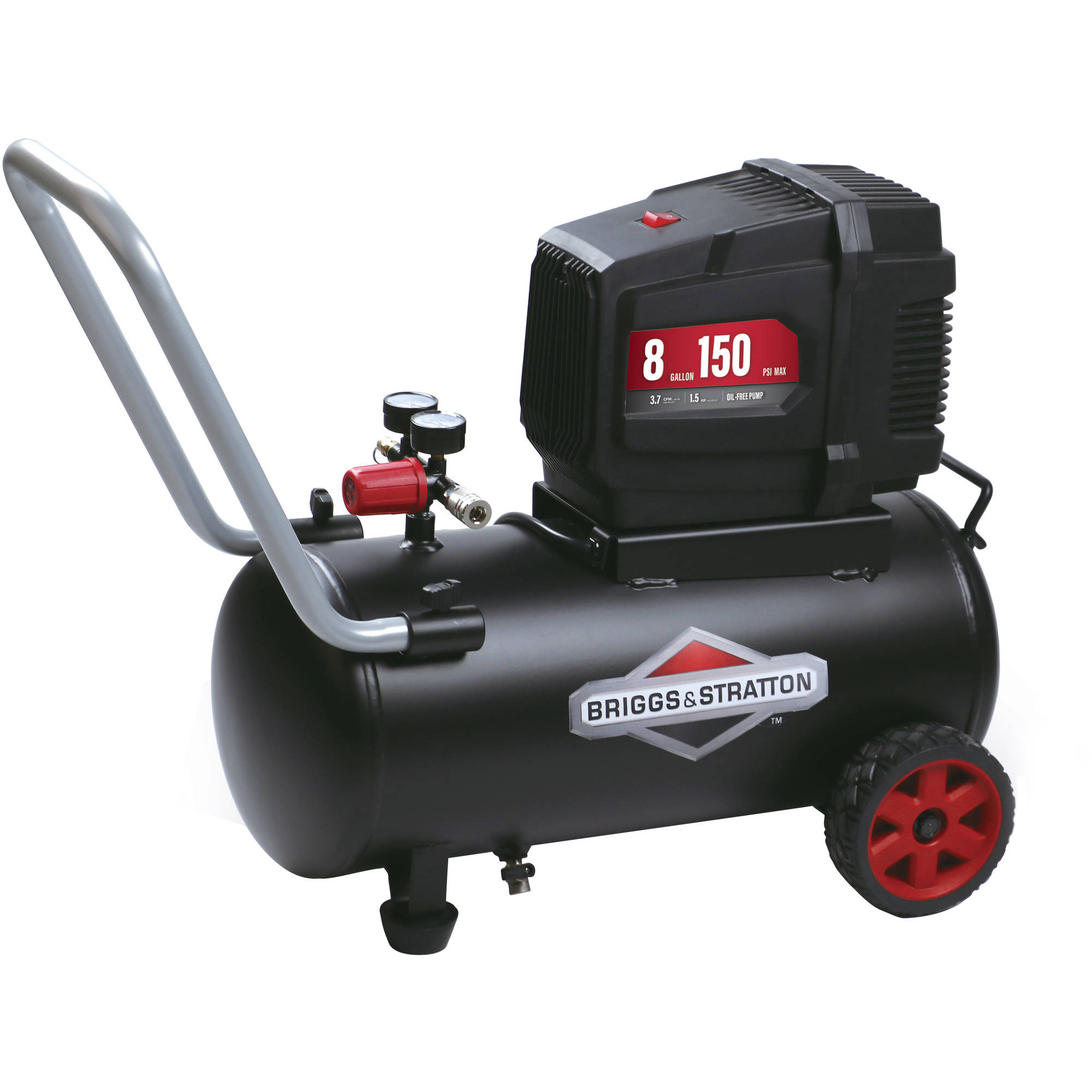 Briggs & Stratton 8 Gallon Hotdog Oil-free Air Compressor