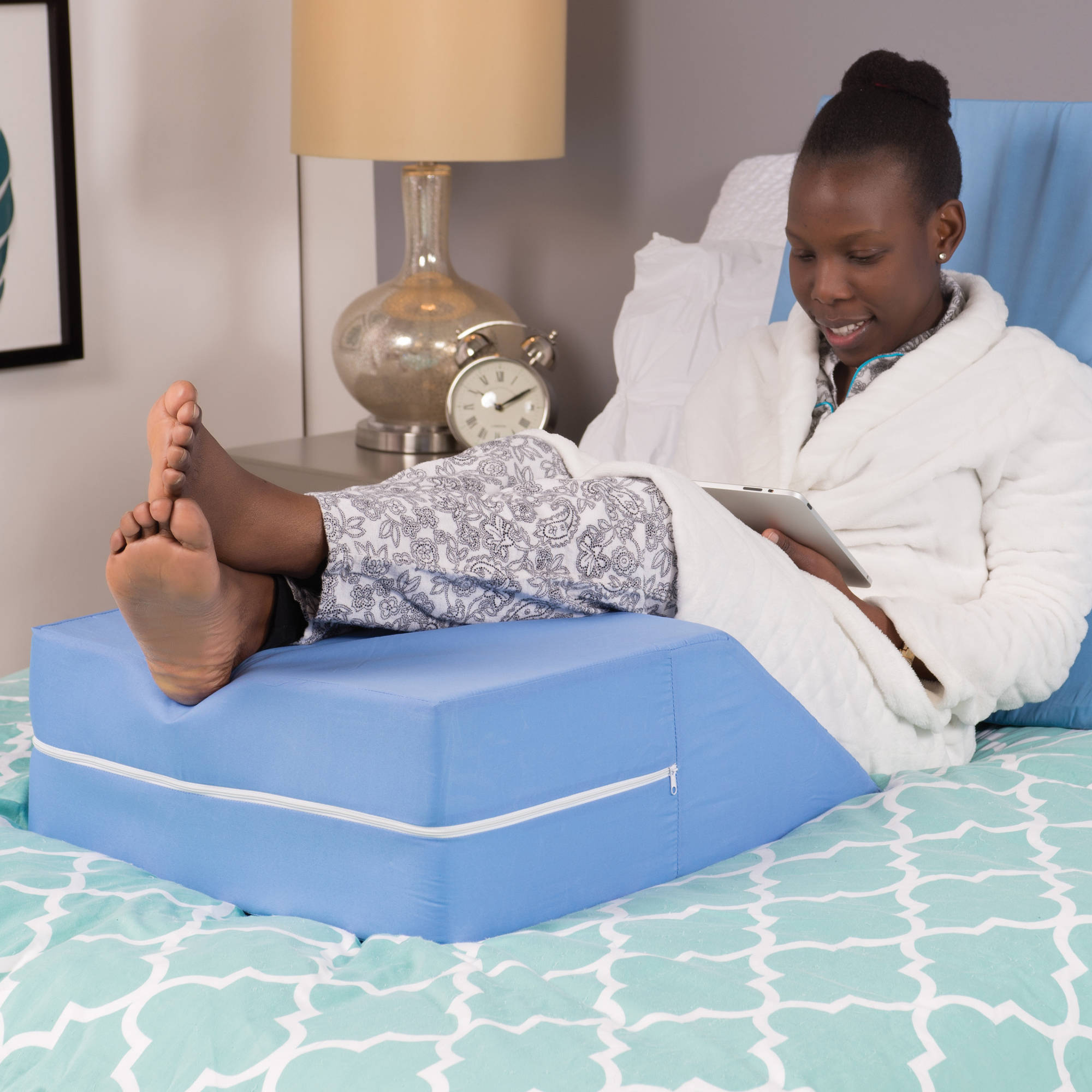 Bed wedge for legs - Dmi Ortho Bed Wedge Elevating Leg Rest Cushion Pillow Blue Walmart Com