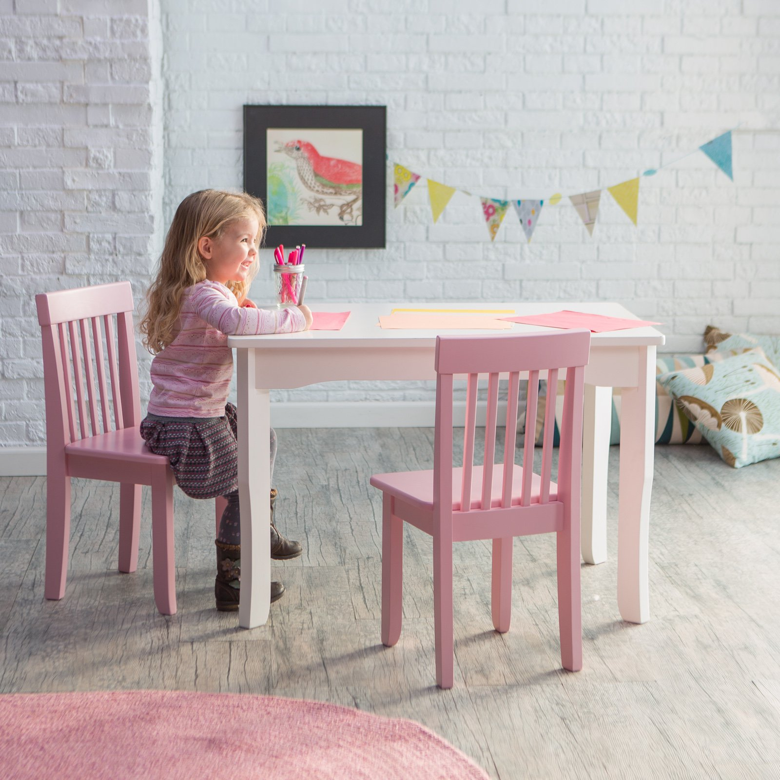 Stupendous Lipper Mystic Table And Chair Set Pink Short Links Chair Design For Home Short Linksinfo