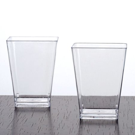 Efavormart 120 Pcs  - Clear Tantalizing Square 6oz Disposable Plastic Tumbler