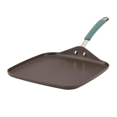 Hard Griddle - Rachael Ray Cucina Hard-Anodized Nonstick Shallow Square Griddle, 11