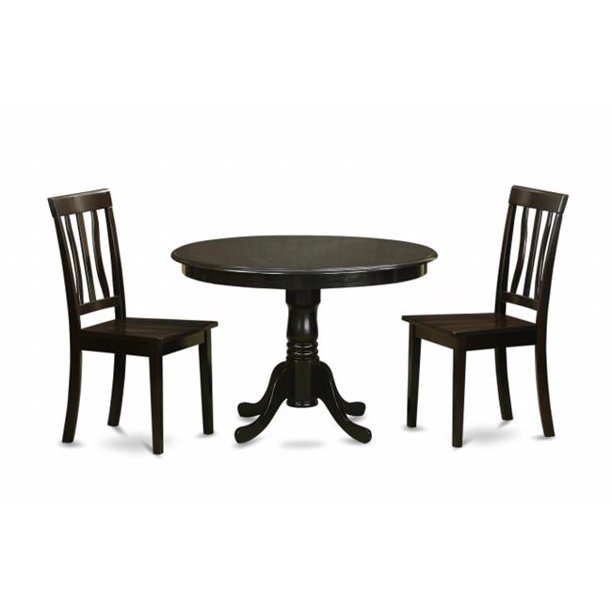3 Piece Small Kitchen Table Set Small Kitchen Table Set And 2 Dinette Chairs Walmart Com Walmart Com