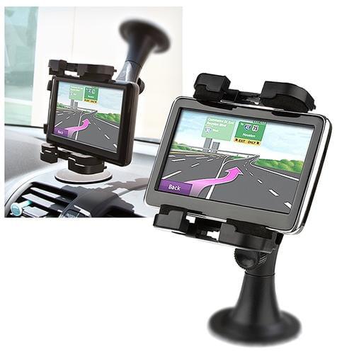 Insten Universal Car GPS Phone Windshield Holder Mount for iPhone 6S 6 6+ Plus 5S 4S SE iPod Touch 6th / Samsung Galaxy Note 5 4 3 S7 S6 S5 S4 S3 Edge J7 J5 / LG G4 G Stylo Leon Nexus 5X / ZTE Zmax 2