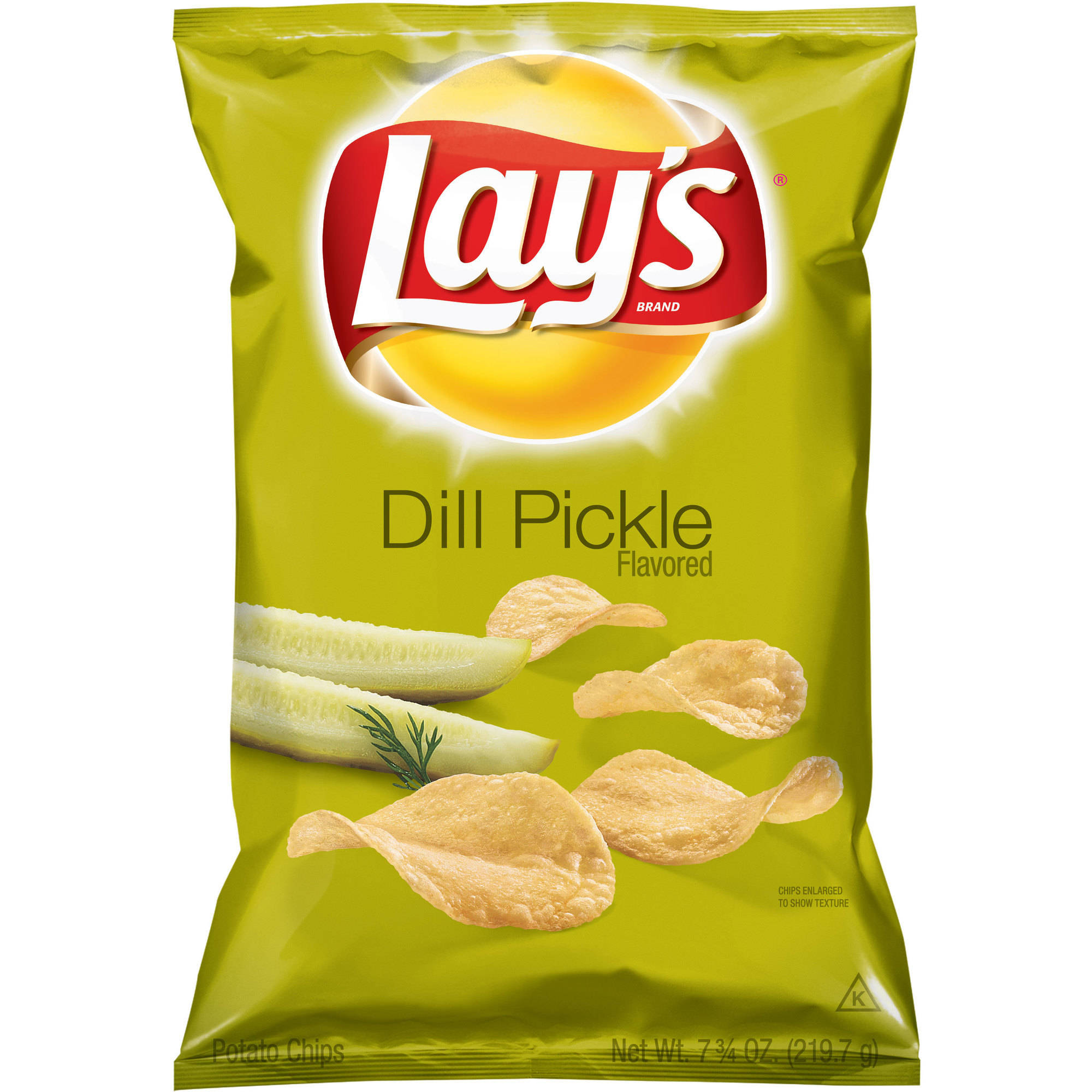 Lays Dill Pickle Flavored Potato Chips, 7.75 oz.