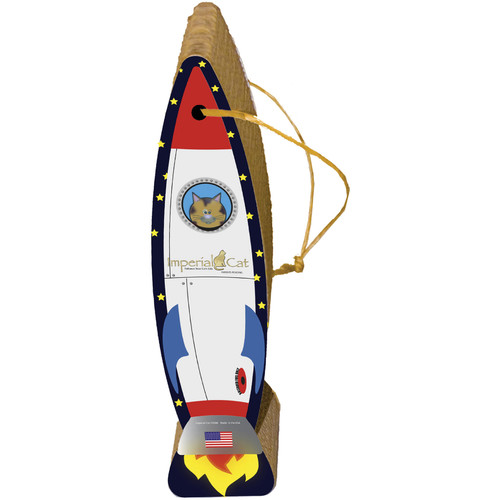 Imperial Cat Scratch n' Shapes Rocket Ship Hanging Recycled Paper Scratching Post