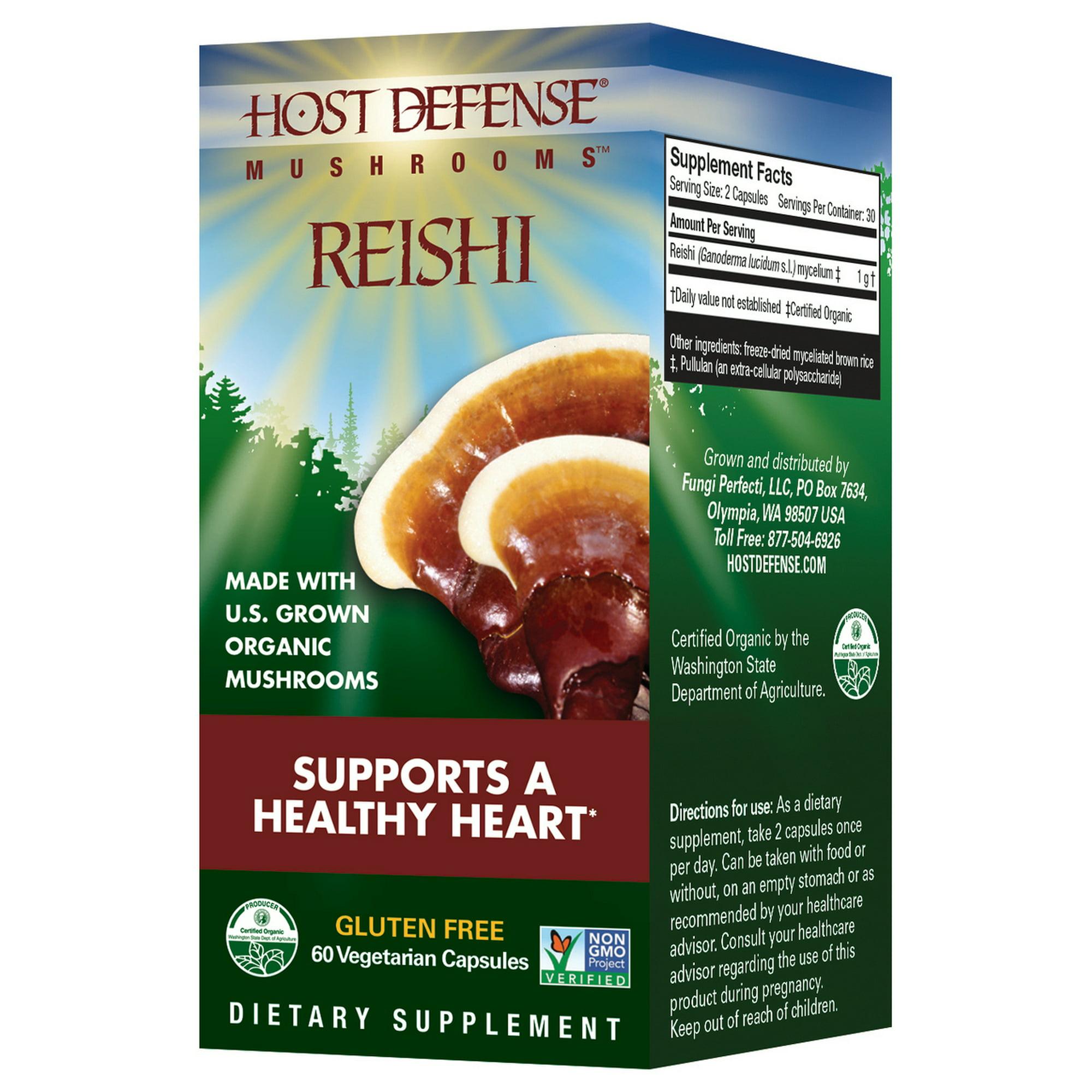 Host Defense Reishi Ganoderma Lucidum Capsules 60 Count | Walmart Canada