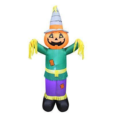 6 Foot Tall Happy Thanksgiving Hallween Inflatable Pumpkin Scarecrow Yard Art Indoor Outdoor Decoration Walmart Com Walmart Com