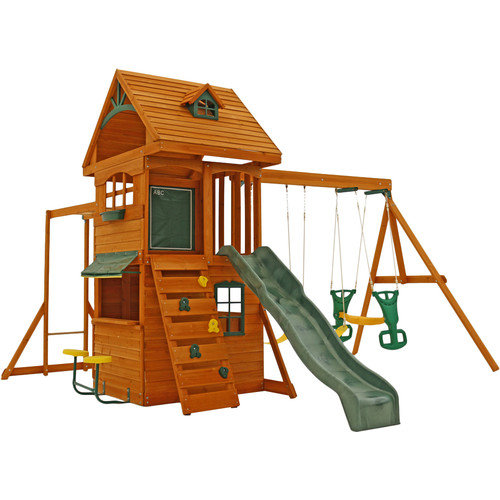 Big Backyard Ridgeview Deluxe Clubhouse Swing Set