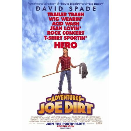 The Adventures of Joe Dirt (2001) 11x17 Movie Poster (Joe Dirt Wig)