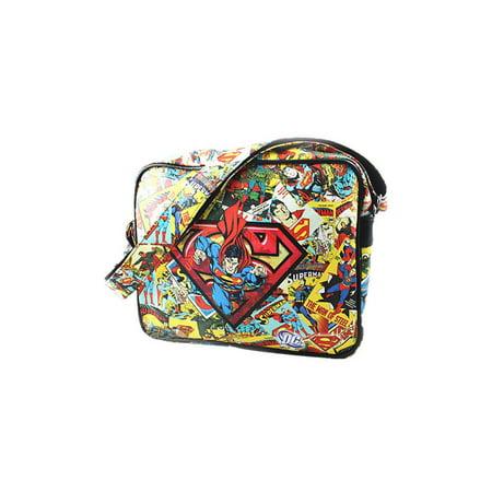Superman Logo Retro Comic Shoulder Bag