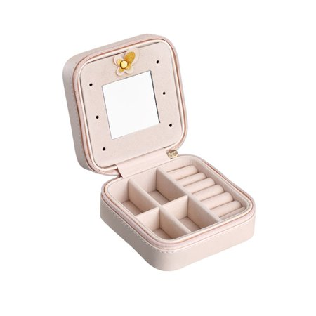 Small Portable Travel Jewelry Box Organizer Storage Case for Rings Earrings Necklaces - image 7 of 7