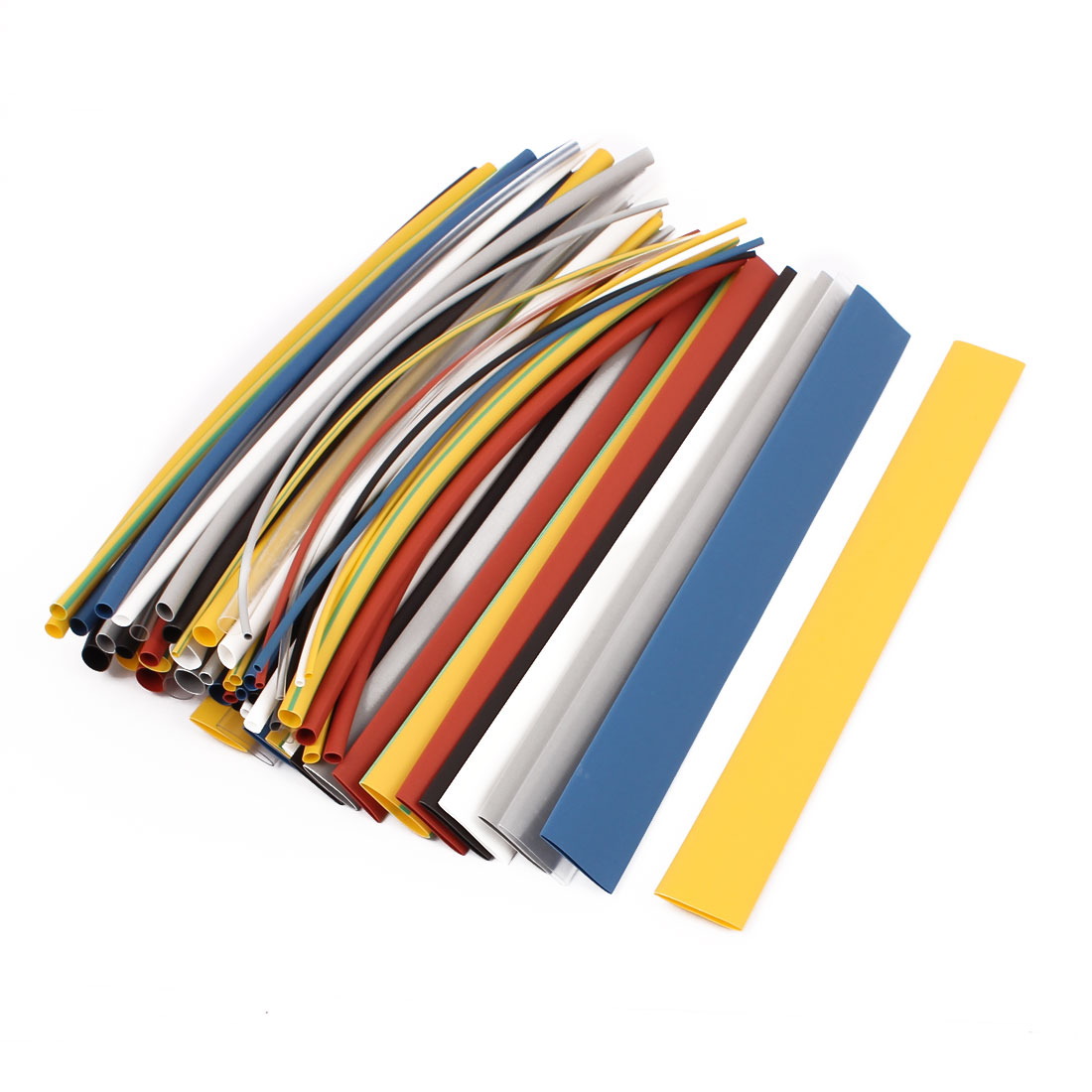 64 Pcs Heatshrinkable Cable Tubing Tube Sleeving Wrap Assorted Sizes Kit - image 2 of 2
