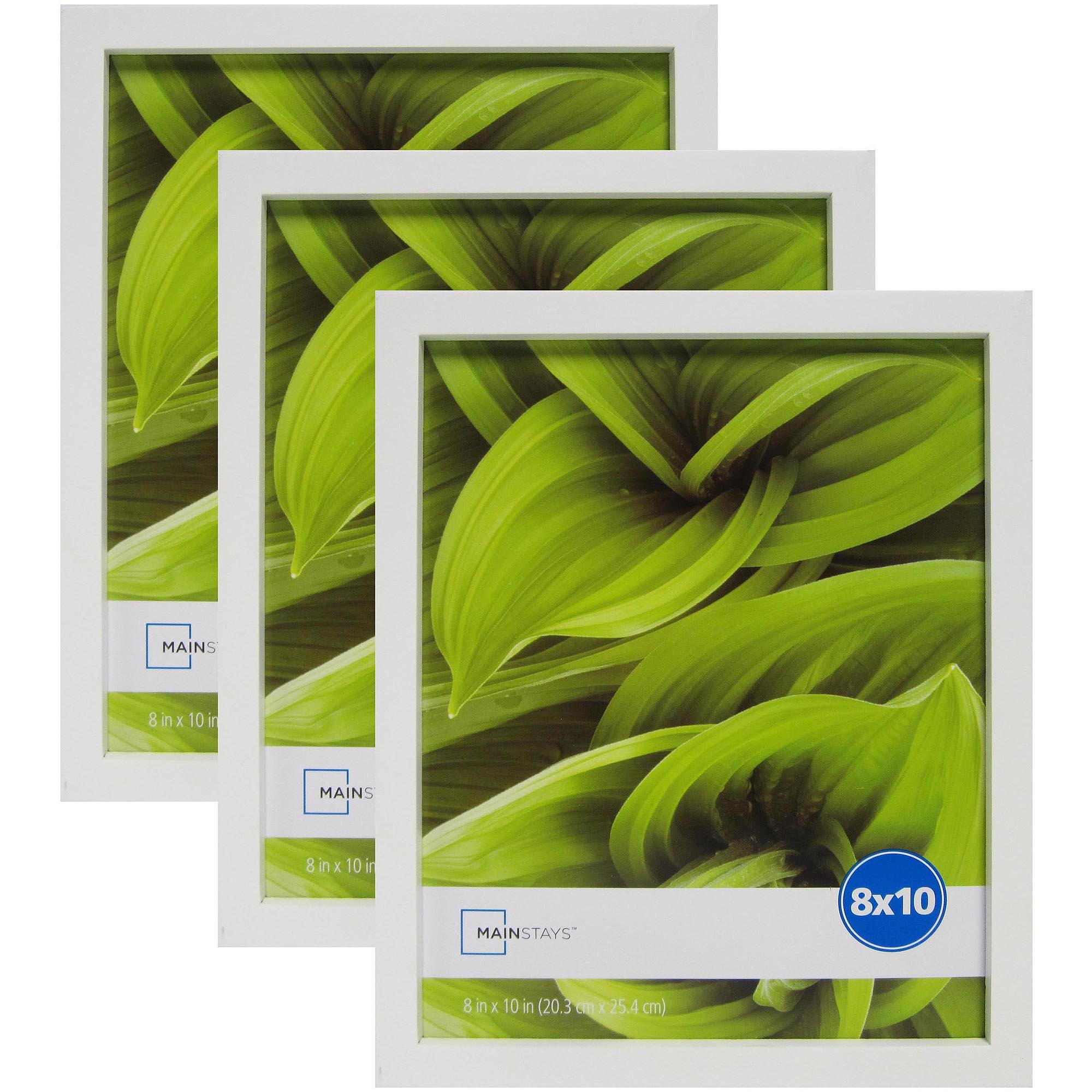 Mainstays Linear 8x10 Frames, White, 3-Pack - Walmart.com