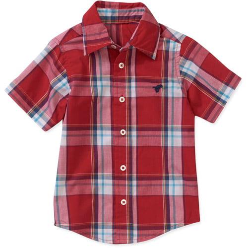 Wrangler Baby Tolddler Boy Plaid Woven Short Sleeve Shirt