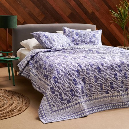- Batik Star 3 Piece Quilt Set by Drew Barrymore Flower Home, King