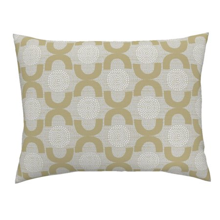 Retro Trellis Home Decor Upholstery Neutral Dots 50S Pillow Sham by Roostery](50s Decor Home)
