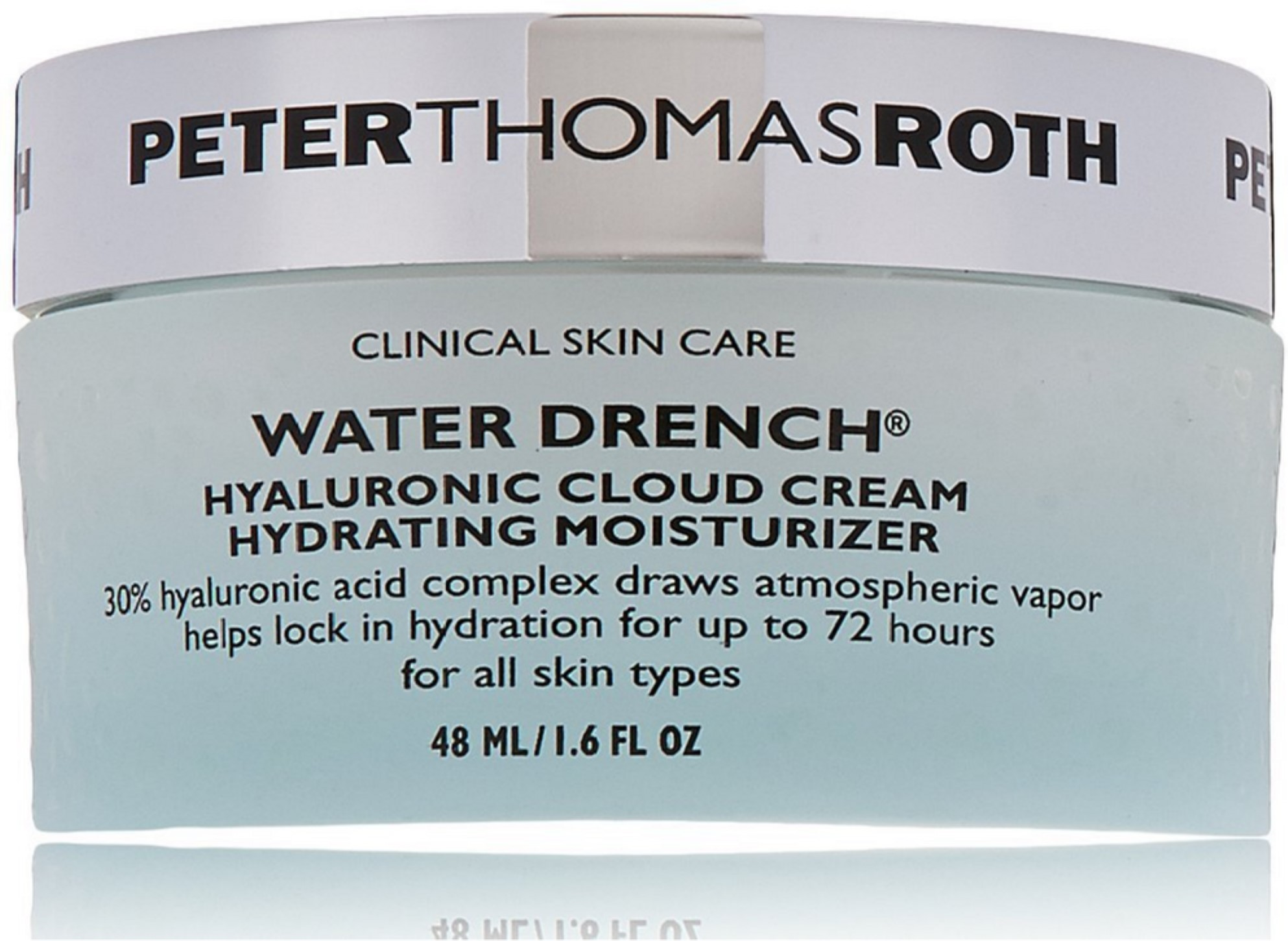 6 Pack - Peter Thomas Roth Water Drench Hyaluronic Cloud Cream 1.6 oz Yes To Carrots Fragrance-Free Gentle Cleansing Wipes, 25 Count (Pack of 3) + 3 Count Eyebrow Trimmer