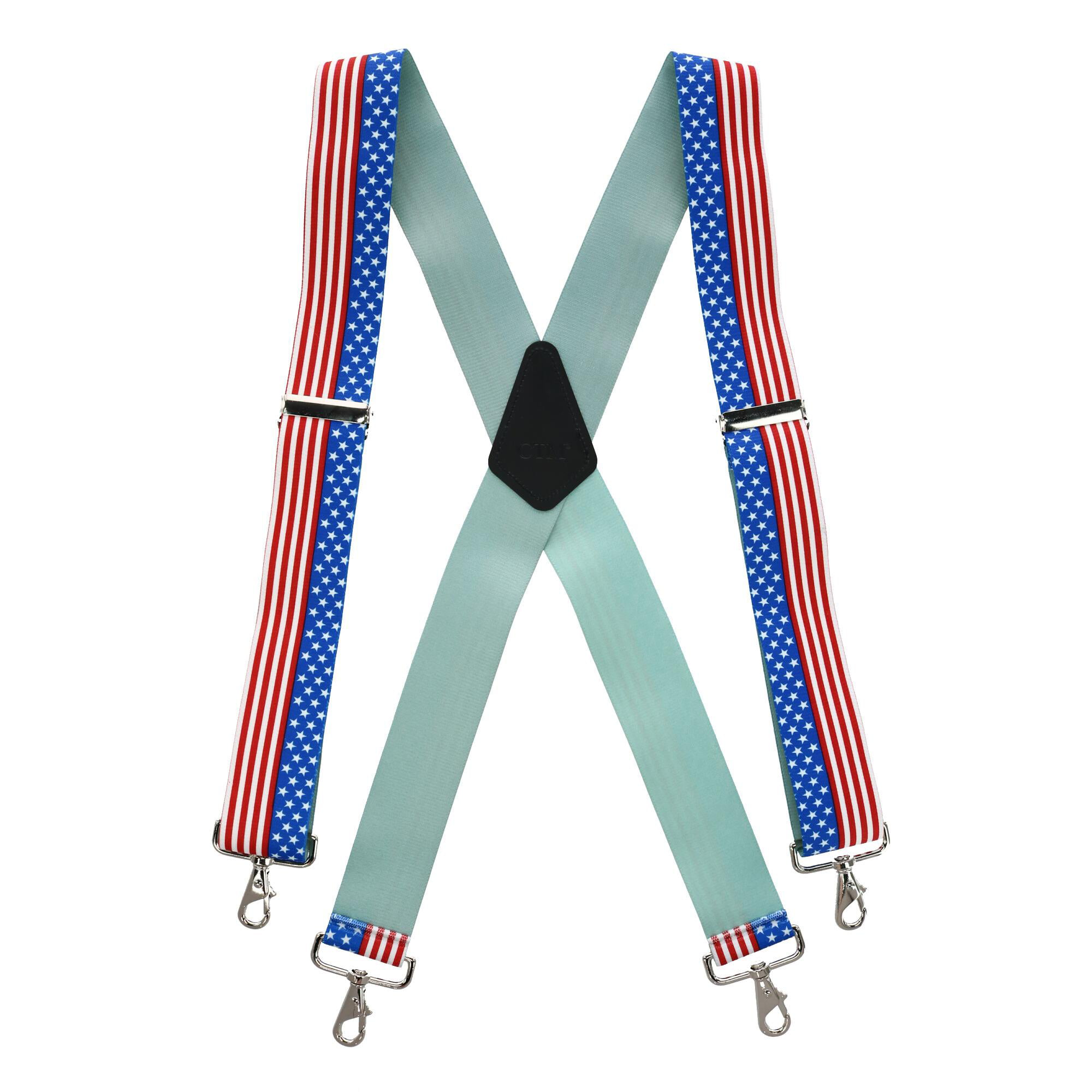 Mens Big /& Tall Elastic Suspender with Metal Swivel Hook Clip End USA Made
