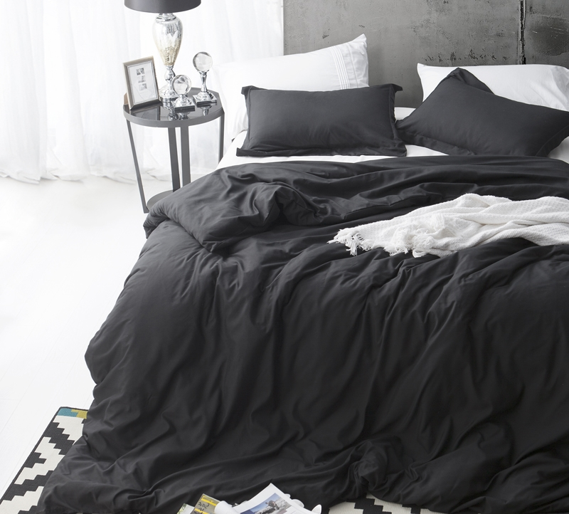 BYB Duvet Cover Black Supersoft Bedding